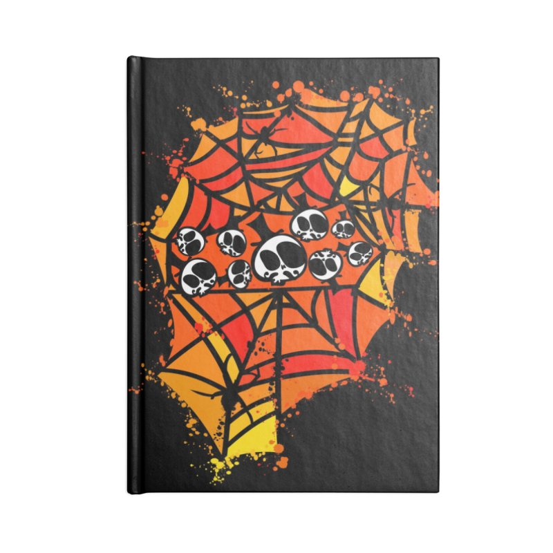 Colorful spider web Accessories Lined Journal Notebook by cindyshim's Artist Shop