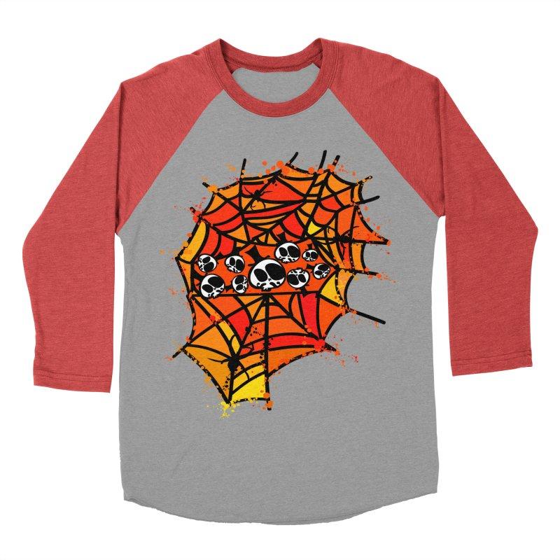 Colorful spider web Women's Baseball Triblend Longsleeve T-Shirt by cindyshim's Artist Shop