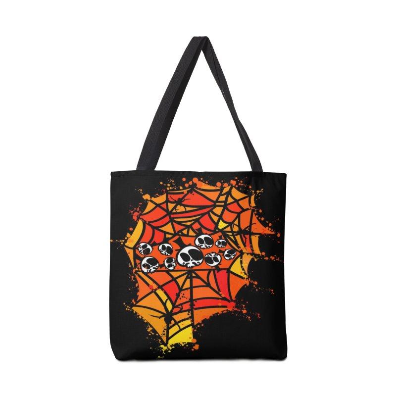 Colorful spider web Accessories Tote Bag Bag by cindyshim's Artist Shop