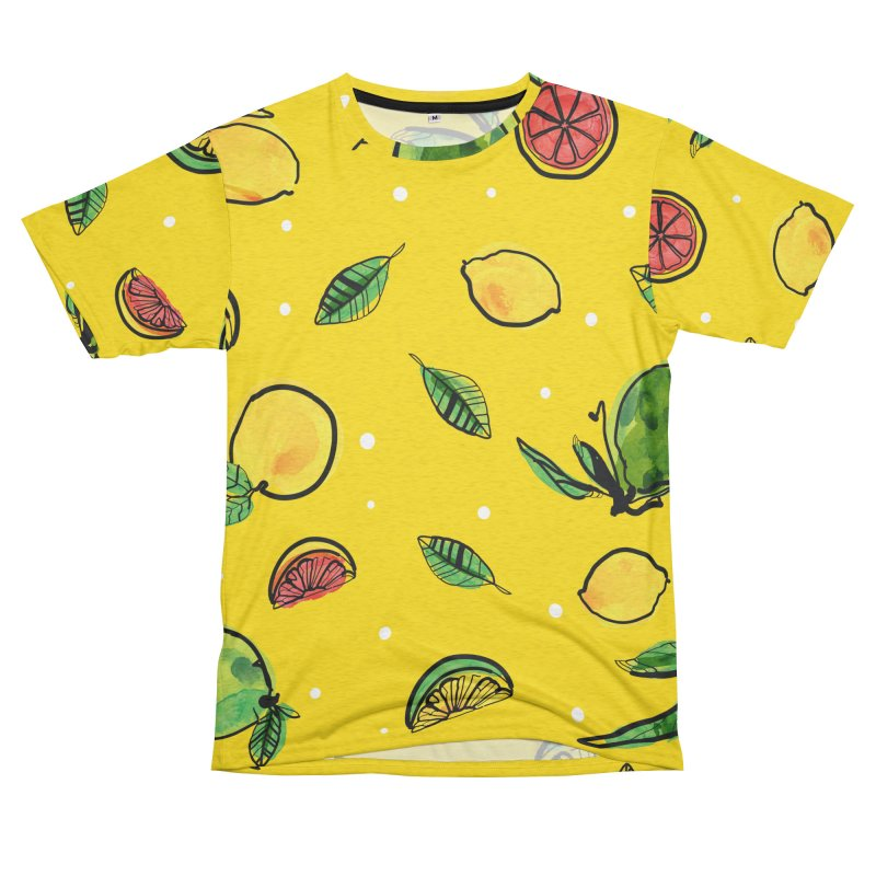 Fresh Fruity Men's French Terry T-Shirt Cut & Sew by cindyshim's Artist Shop