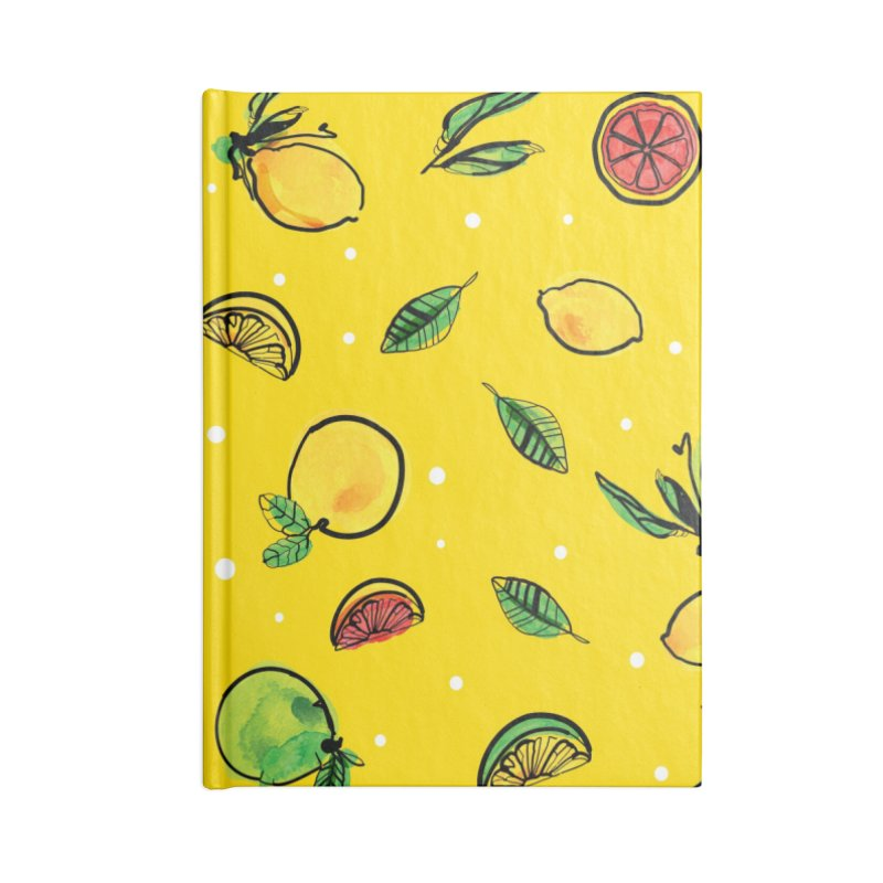 Fresh Fruity Accessories Lined Journal Notebook by cindyshim's Artist Shop