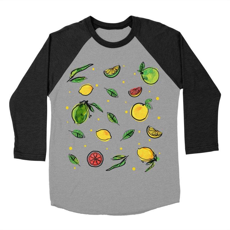 Fresh Fruity Women's Baseball Triblend Longsleeve T-Shirt by cindyshim's Artist Shop