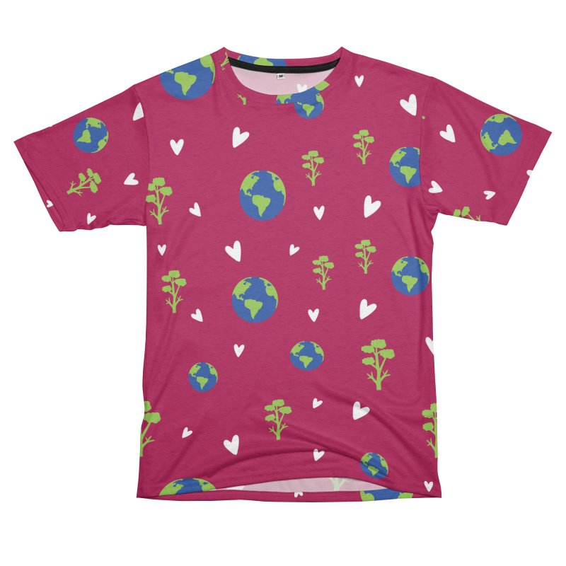 Love earth pattern Men's French Terry T-Shirt Cut & Sew by cindyshim's Artist Shop