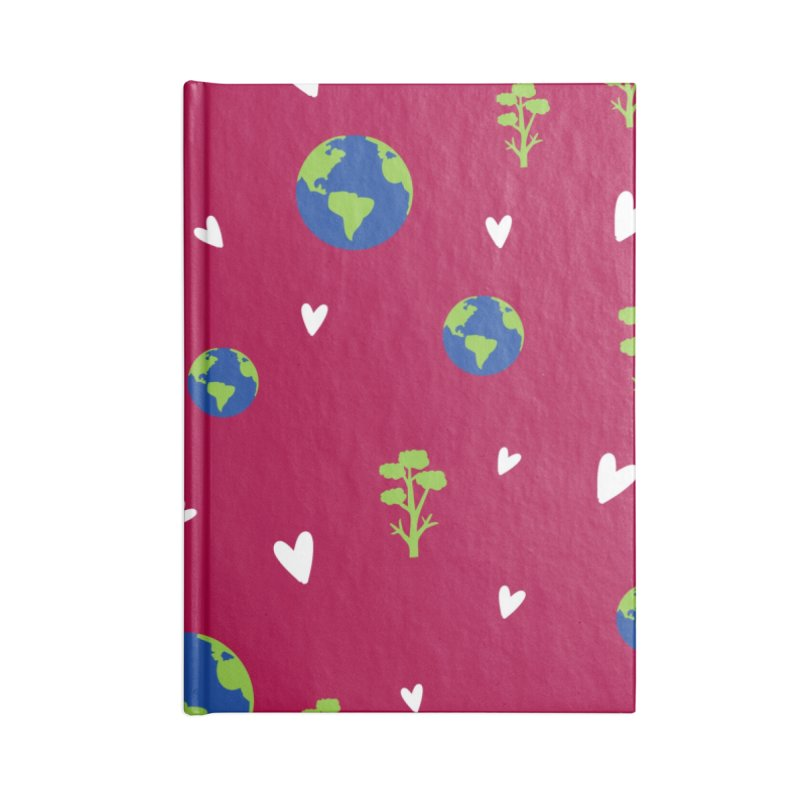 Love earth pattern Accessories Lined Journal Notebook by cindyshim's Artist Shop