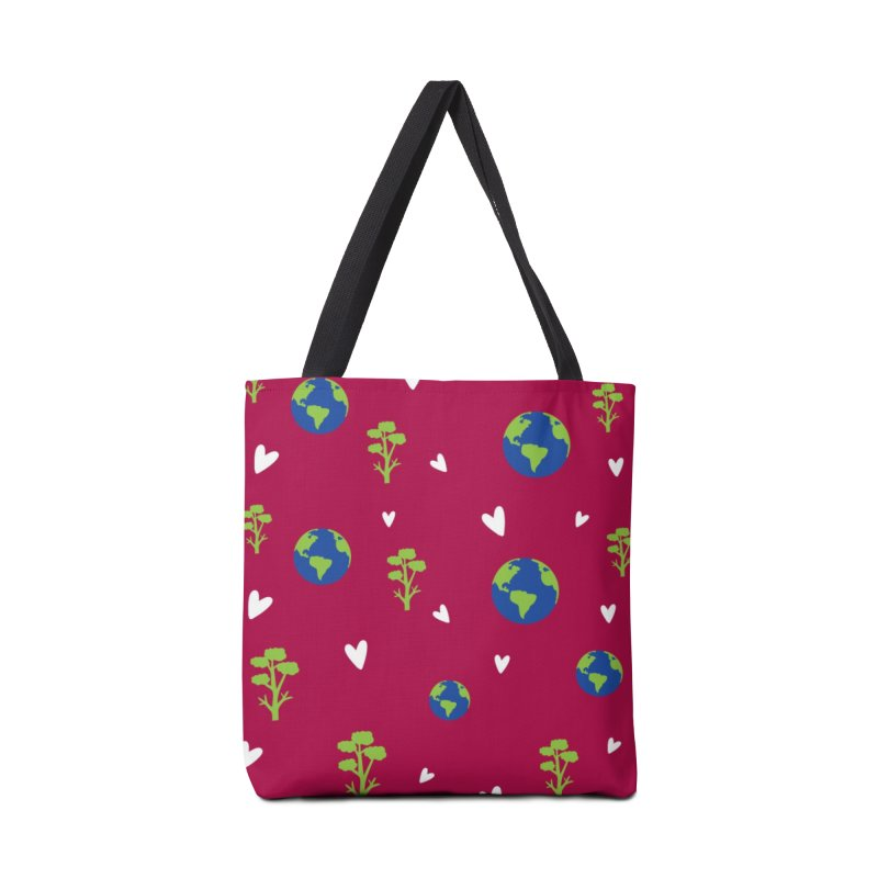 Love earth pattern Accessories Tote Bag Bag by cindyshim's Artist Shop