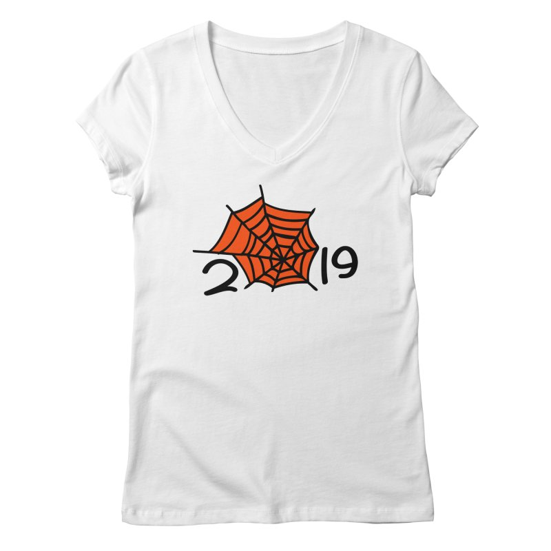 2019 spider web Women's Regular V-Neck by cindyshim's Artist Shop