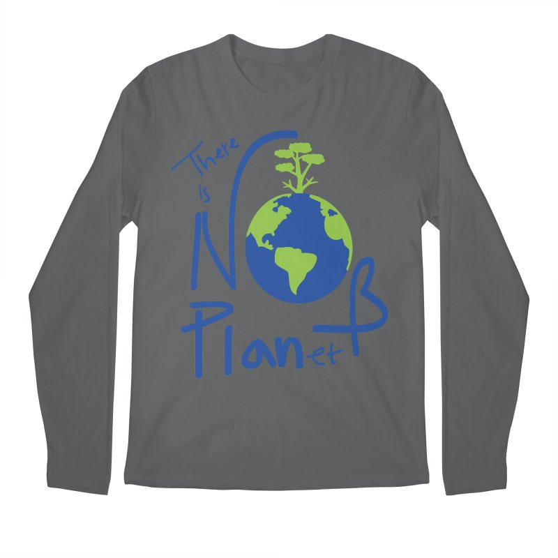 There is no planet B Men's Regular Longsleeve T-Shirt by cindyshim's Artist Shop