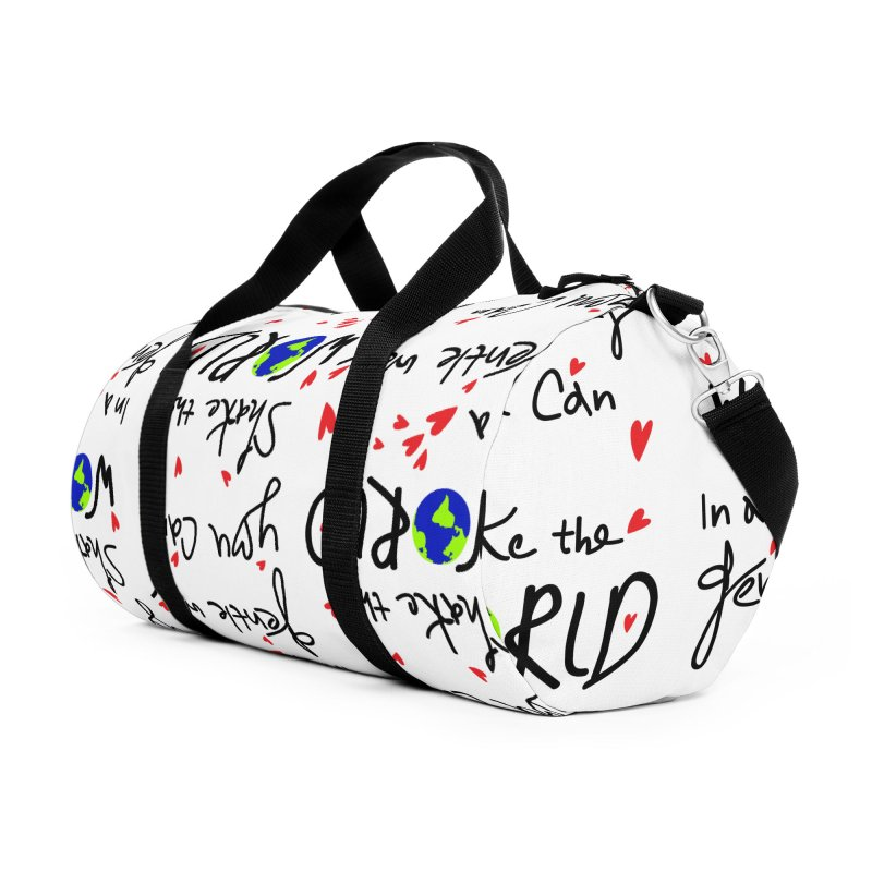 You can shake the world Accessories Duffel Bag Bag by cindyshim's Artist Shop