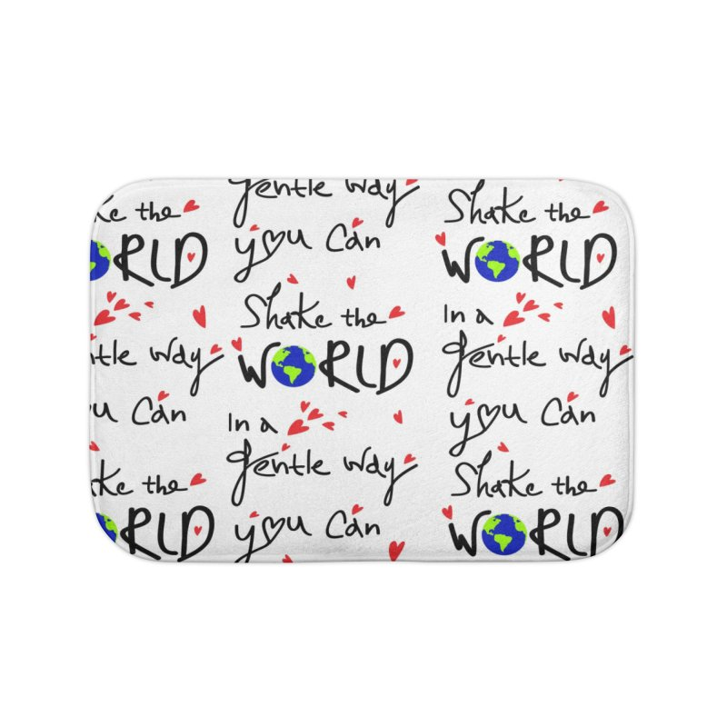 You can shake the world Home Bath Mat by cindyshim's Artist Shop