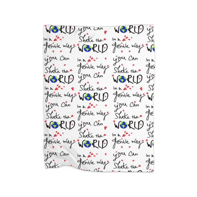 You can shake the world Home Fleece Blanket Blanket by cindyshim's Artist Shop
