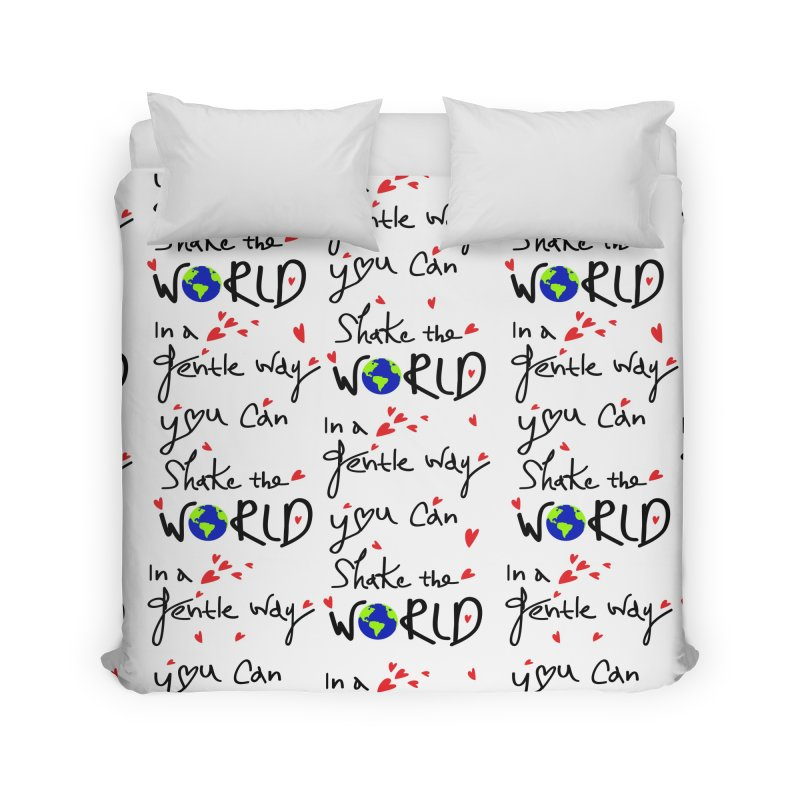 You can shake the world Home Duvet by cindyshim's Artist Shop