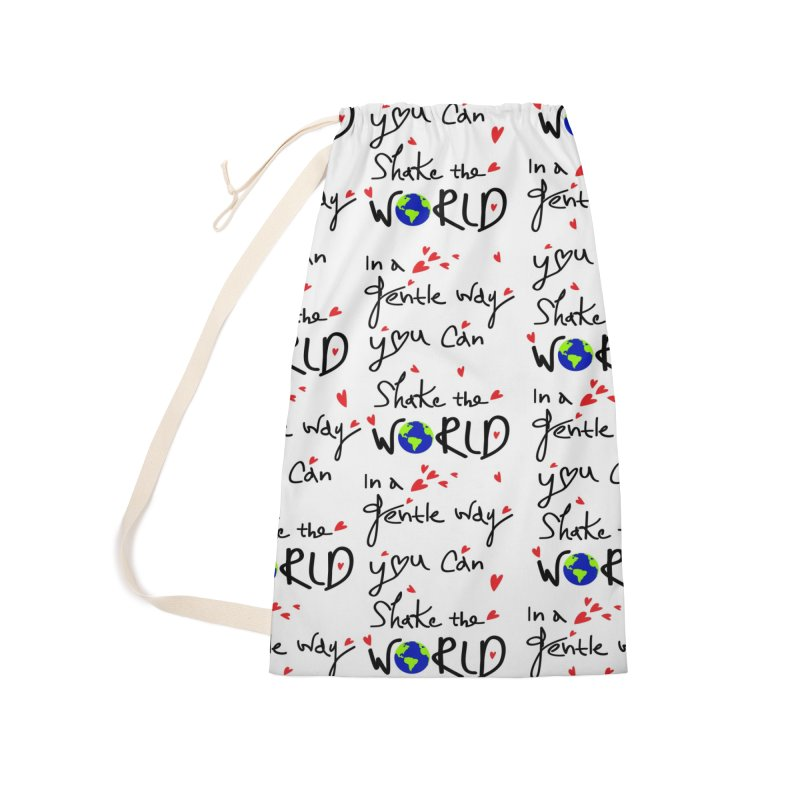 You can shake the world Accessories Bag by cindyshim's Artist Shop