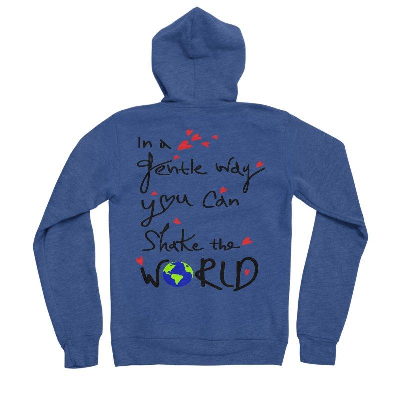 You can shake the world Women's Sponge Fleece Zip-Up Hoody by cindyshim's Artist Shop