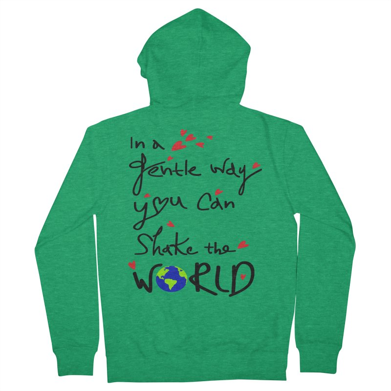 You can shake the world Men's Zip-Up Hoody by cindyshim's Artist Shop