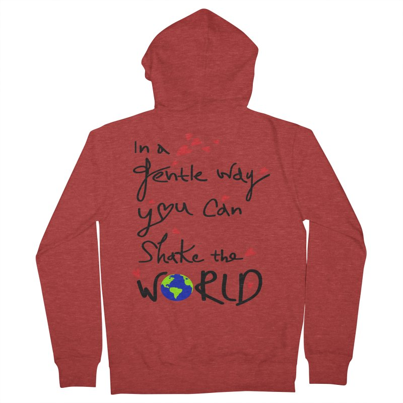 You can shake the world Men's French Terry Zip-Up Hoody by cindyshim's Artist Shop