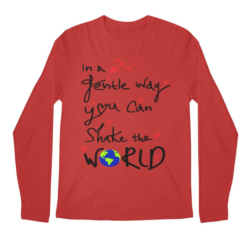 You can shake the world Men's Regular Longsleeve T-Shirt by cindyshim's Artist Shop