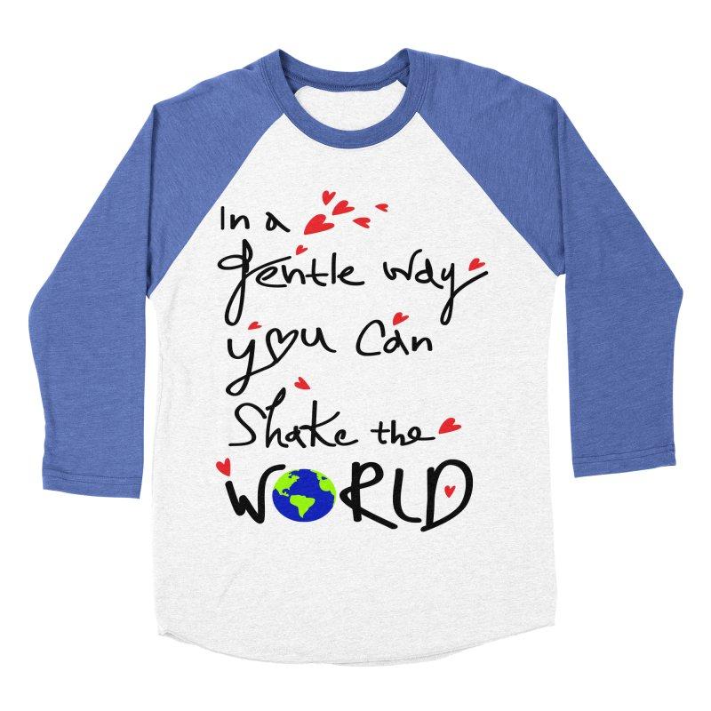 You can shake the world Women's Baseball Triblend Longsleeve T-Shirt by cindyshim's Artist Shop