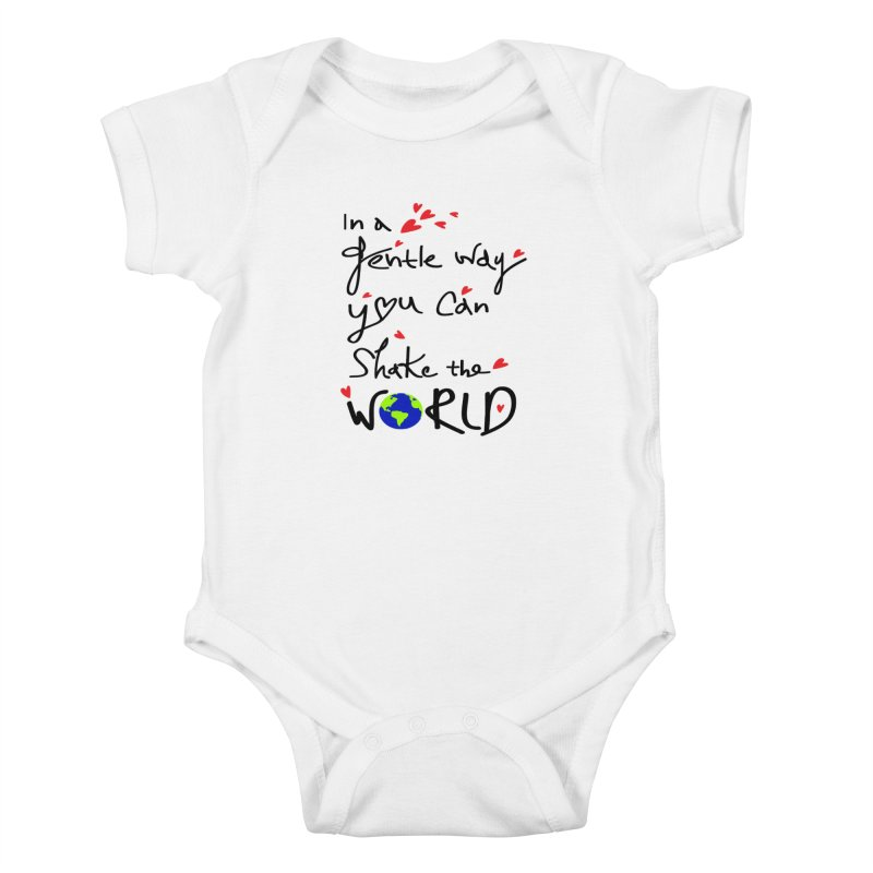 You can shake the world Kids Baby Bodysuit by cindyshim's Artist Shop
