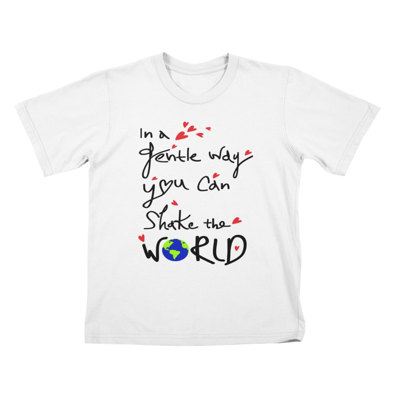 You can shake the world Kids T-Shirt by cindyshim's Artist Shop