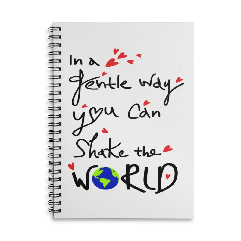 You can shake the world Accessories Lined Spiral Notebook by cindyshim's Artist Shop