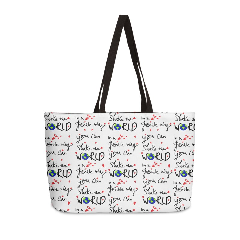 You can shake the world Accessories Weekender Bag Bag by cindyshim's Artist Shop