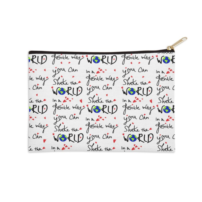 You can shake the world Accessories Zip Pouch by cindyshim's Artist Shop