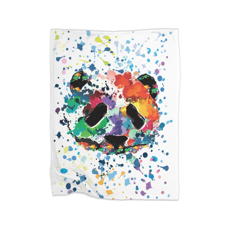 Splash Panda Home Fleece Blanket Blanket by cindyshim's Artist Shop