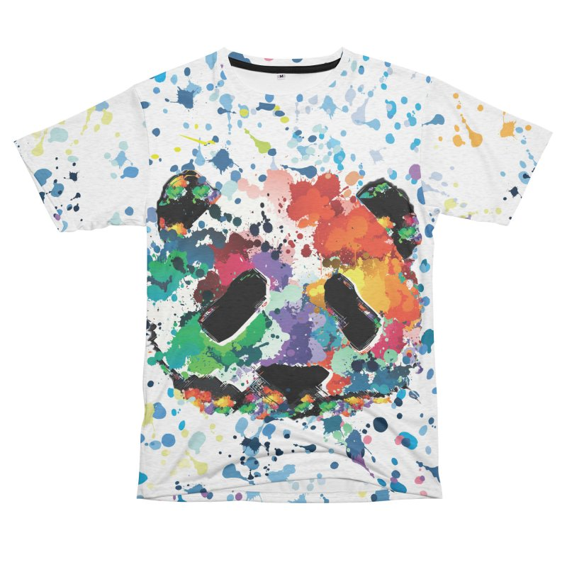 Splash Panda Women's Unisex French Terry T-Shirt Cut & Sew by cindyshim's Artist Shop