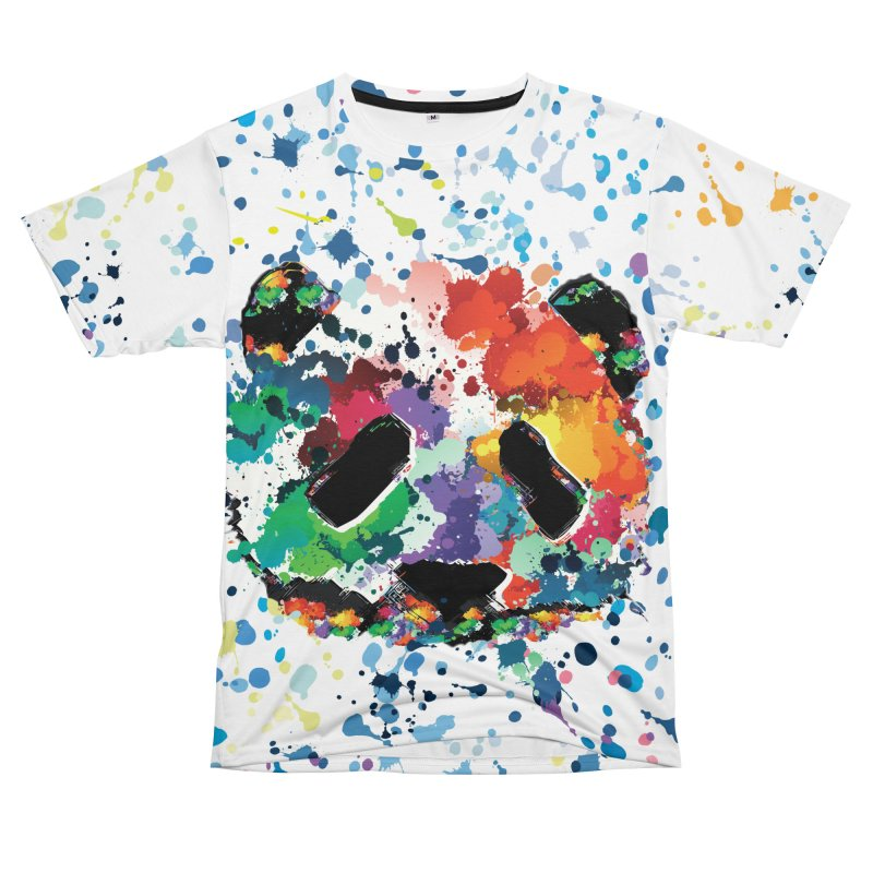 Splash Panda Women's Unisex T-Shirt Cut & Sew by cindyshim's Artist Shop