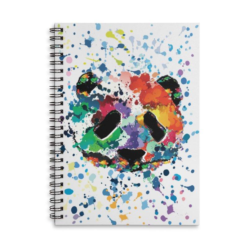Splash Panda Accessories Lined Spiral Notebook by cindyshim's Artist Shop