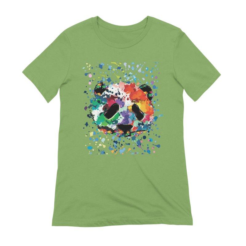 Splash Panda Women's Extra Soft T-Shirt by cindyshim's Artist Shop