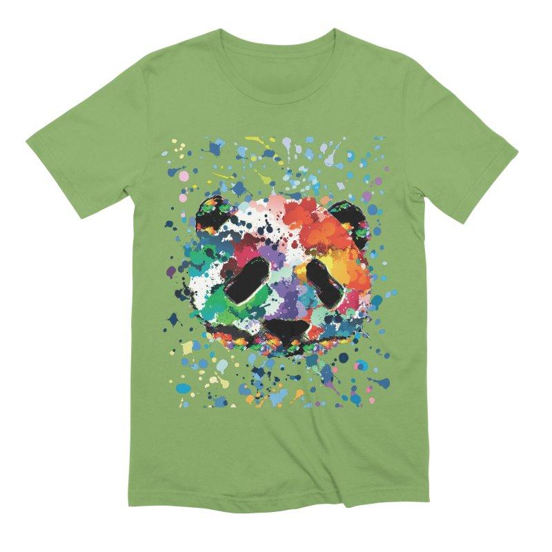 Splash Panda Men's Extra Soft T-Shirt by cindyshim's Artist Shop