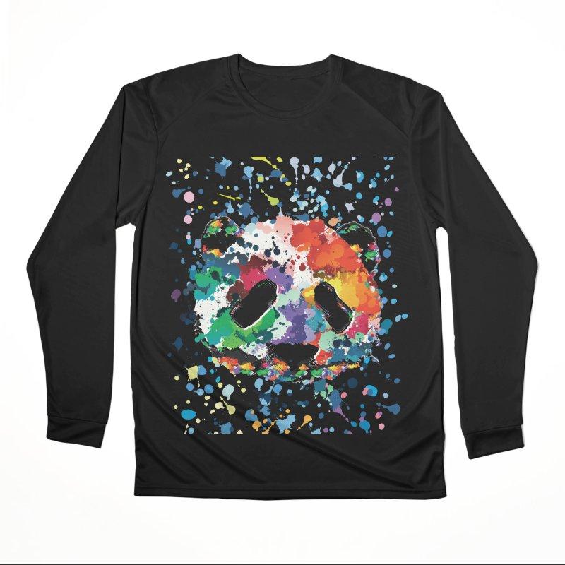 Splash Panda Women's Performance Unisex Longsleeve T-Shirt by cindyshim's Artist Shop