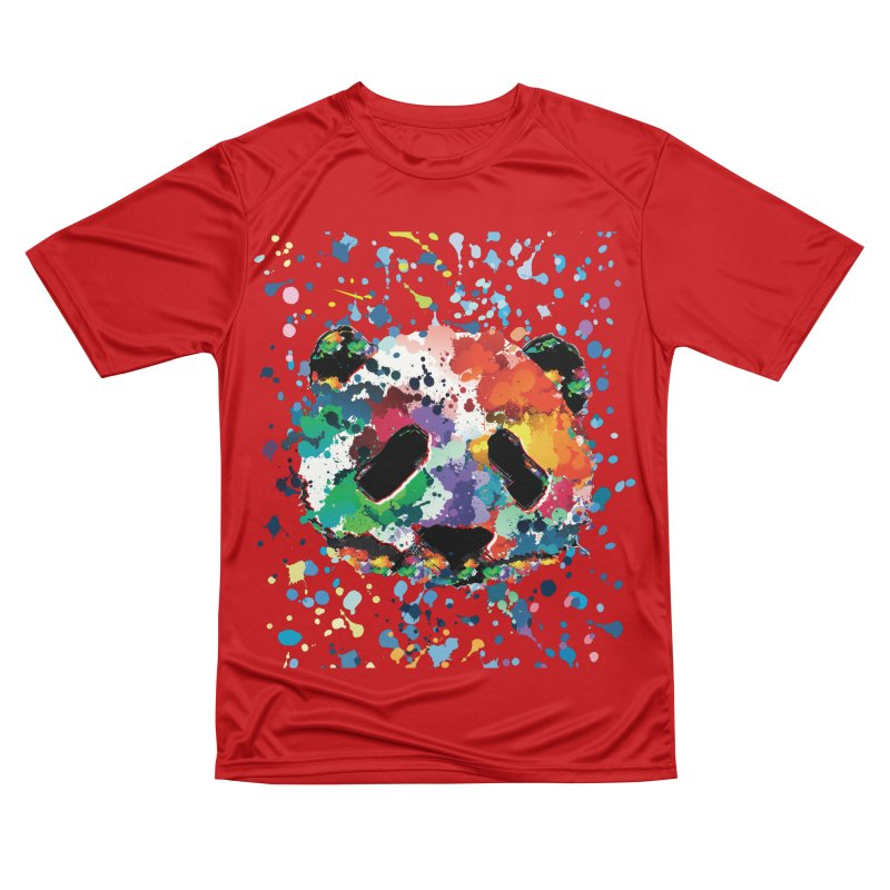 Splash Panda Men's Performance T-Shirt by cindyshim's Artist Shop