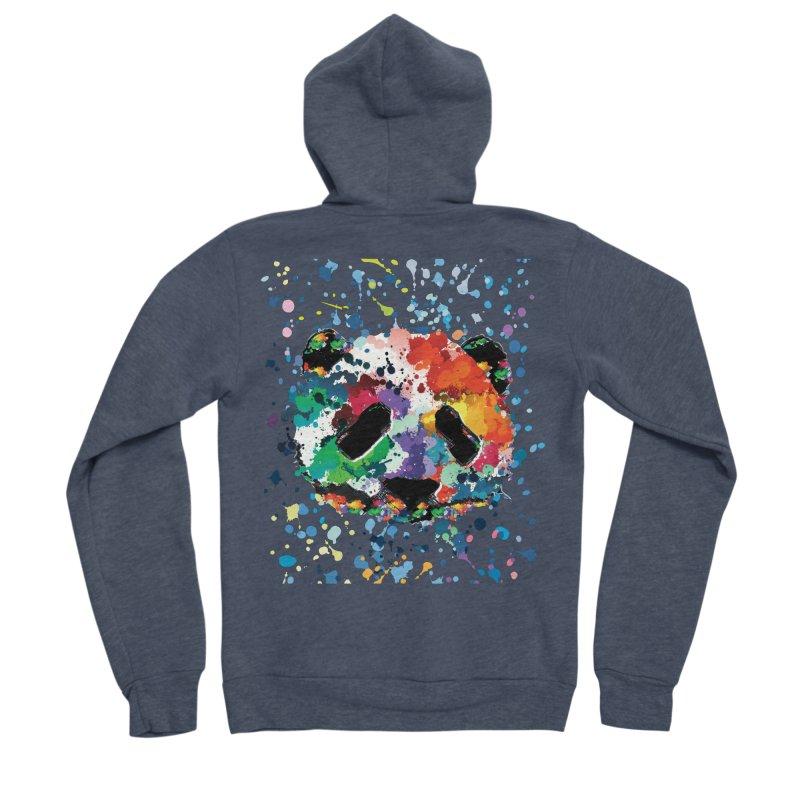 Splash Panda Men's Sponge Fleece Zip-Up Hoody by cindyshim's Artist Shop