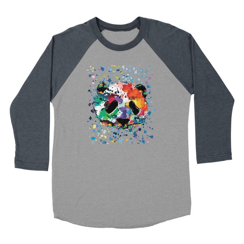 Splash Panda Women's Baseball Triblend Longsleeve T-Shirt by cindyshim's Artist Shop