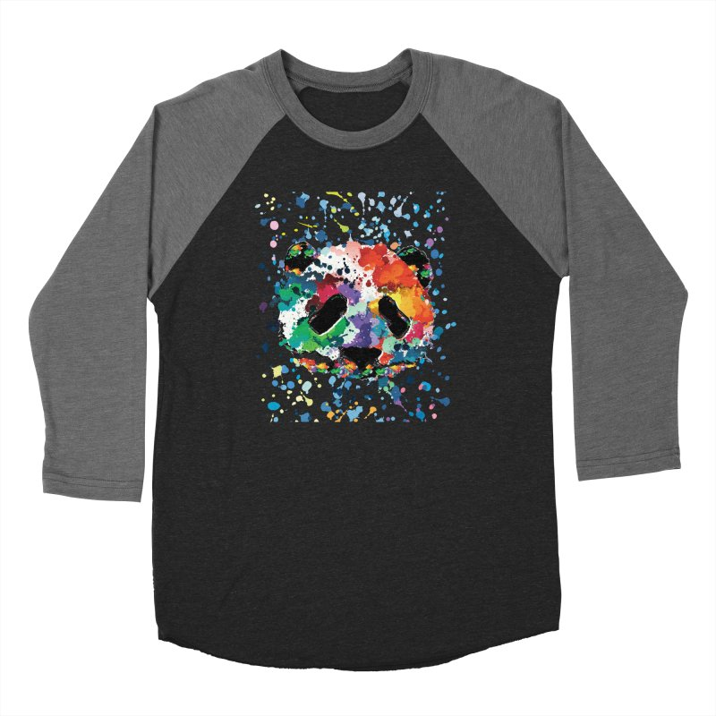 Splash Panda Men's Baseball Triblend Longsleeve T-Shirt by cindyshim's Artist Shop