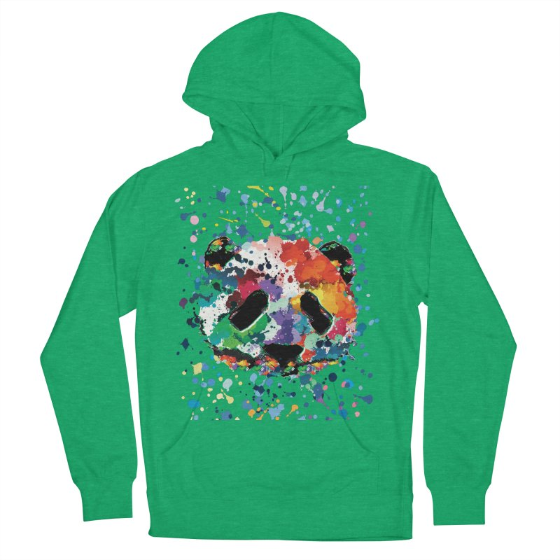 Splash Panda Men's French Terry Pullover Hoody by cindyshim's Artist Shop