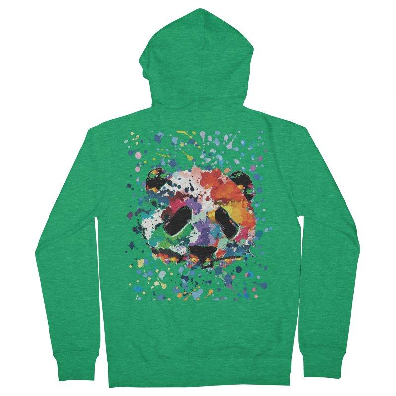 Splash Panda Men's Zip-Up Hoody by cindyshim's Artist Shop