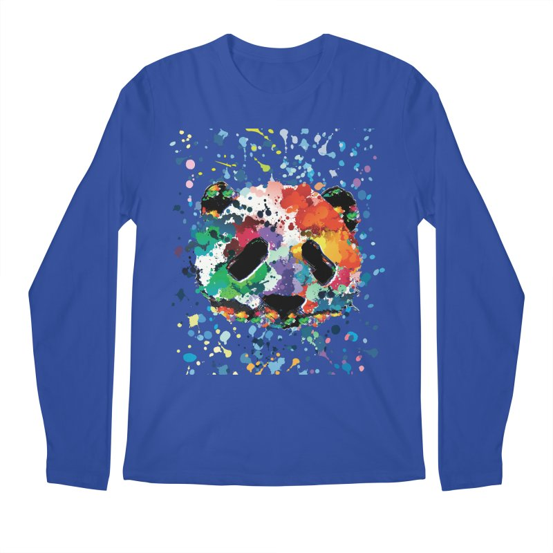 Splash Panda Men's Regular Longsleeve T-Shirt by cindyshim's Artist Shop