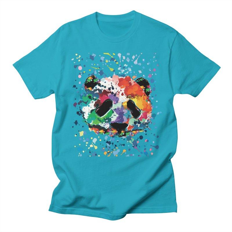Splash Panda Men's Regular T-Shirt by cindyshim's Artist Shop
