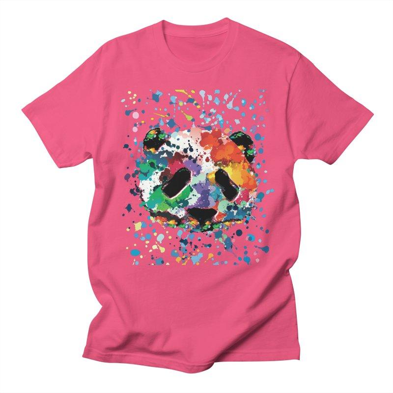 Splash Panda Women's Regular Unisex T-Shirt by cindyshim's Artist Shop