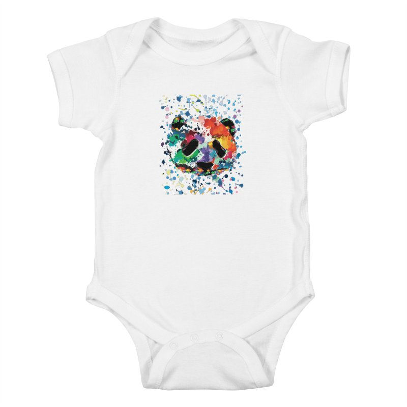 Splash Panda Kids Baby Bodysuit by cindyshim's Artist Shop