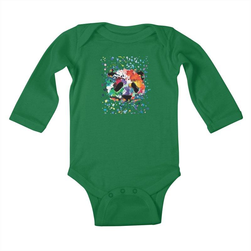 Splash Panda Kids Baby Longsleeve Bodysuit by cindyshim's Artist Shop