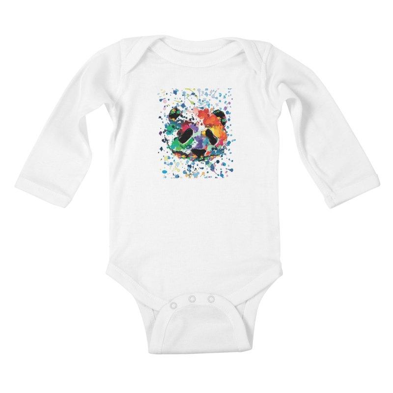 Splash Panda Kids Baby Longsleeve Bodysuit by cindyshim's Artist Shop