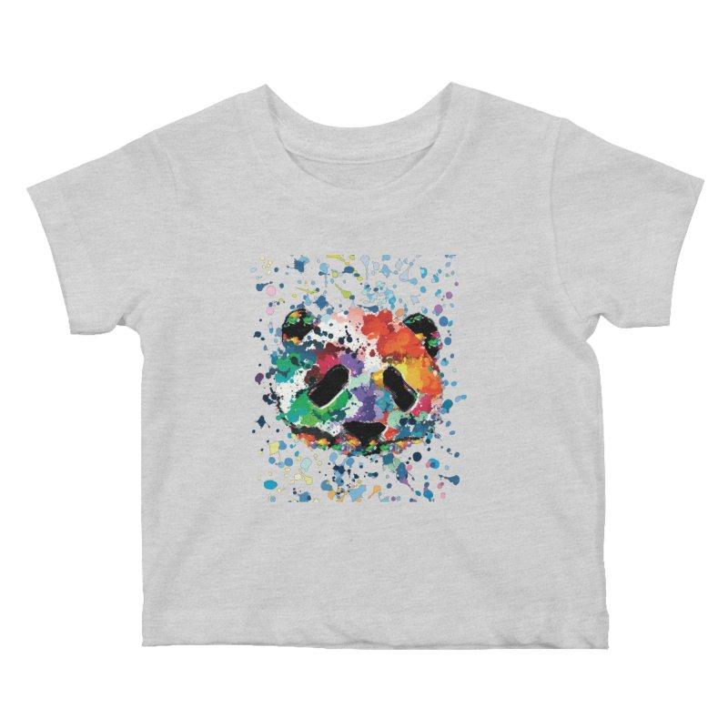 Splash Panda Kids Baby T-Shirt by cindyshim's Artist Shop