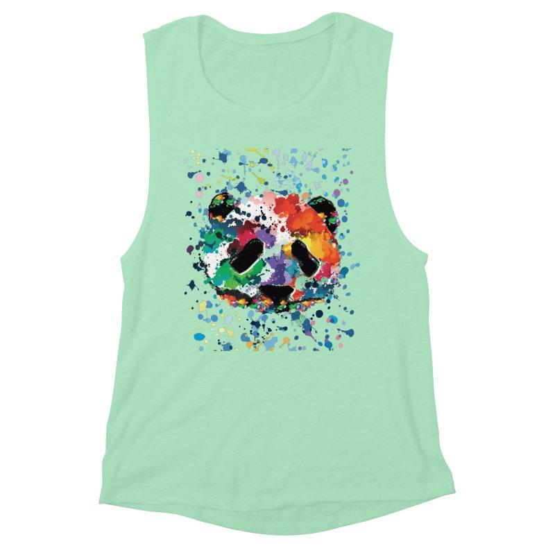 Splash Panda Women's Muscle Tank by cindyshim's Artist Shop