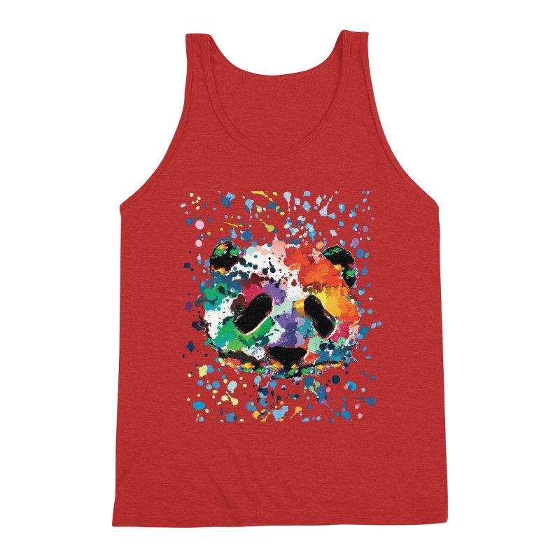 Splash Panda Men's Triblend Tank by cindyshim's Artist Shop