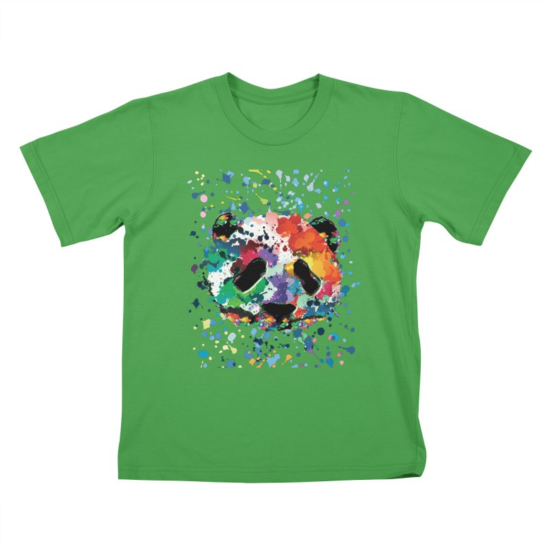 Splash Panda Kids T-Shirt by cindyshim's Artist Shop