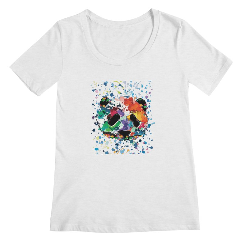 Splash Panda Women's Regular Scoop Neck by cindyshim's Artist Shop